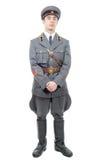 Πορτρέτο ενός νέου ανώτερου υπαλλήλου του σοβιετικού στρατού, που απομονώνεται στο μόριο Στοκ εικόνα με δικαίωμα ελεύθερης χρήσης