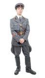 Πορτρέτο ενός νέου ανώτερου υπαλλήλου του σοβιετικού στρατού, που απομονώνεται στο μόριο Στοκ Φωτογραφία