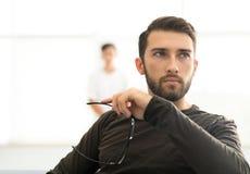 Πορτρέτο ενός νέου αρσενικού προτύπου Στοκ Εικόνες