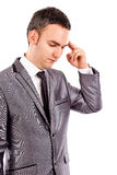 Πορτρέτο ενός νέου επιχειρηματία που σκέφτεται σκληρά στοκ φωτογραφίες