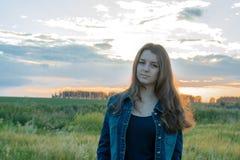 Πορτρέτο ενός νέου κοριτσιού Στοκ εικόνα με δικαίωμα ελεύθερης χρήσης