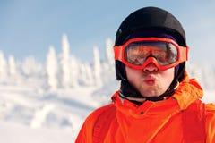 πορτρέτο ενός νέου snowboarder Στοκ εικόνα με δικαίωμα ελεύθερης χρήσης