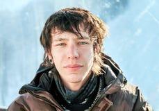 πορτρέτο ενός νέου snowboarder Στοκ φωτογραφία με δικαίωμα ελεύθερης χρήσης