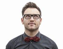 Πορτρέτο ενός νεαρού άνδρα που ανατρέχει αριστερού Στοκ φωτογραφίες με δικαίωμα ελεύθερης χρήσης