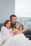 Πορτρέτο ενός πατέρα και μιας κόρης στοκ εικόνα