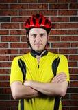 Πορτρέτο ενός ποδηλάτη Στοκ Εικόνα