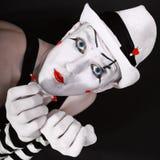 Πορτρέτο ενός δράστη θεάτρων με το mime makeup στοκ εικόνες με δικαίωμα ελεύθερης χρήσης