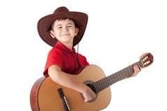 Αγόρι με την κιθάρα Στοκ Φωτογραφία