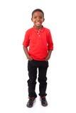 Πορτρέτο ενός χαριτωμένου μικρού παιδιού αφροαμερικάνων που χαμογελά, που απομονώνεται Στοκ φωτογραφίες με δικαίωμα ελεύθερης χρήσης