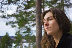 Πορτρέτο ενός όμορφου θηλυκού Στοκ εικόνα με δικαίωμα ελεύθερης χρήσης