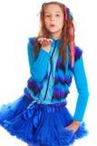 Πορτρέτο ενός όμορφου κοριτσιού εφήβων της ευρωπαϊκής εμφάνισης Στοκ Εικόνες