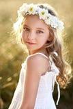 Πορτρέτο ενός όμορφου μικρού κοριτσιού Στοκ Φωτογραφία