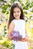 Πορτρέτο ενός όμορφου μικρού κοριτσιού Στοκ Εικόνες