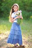 Πορτρέτο ενός όμορφου μικρού κοριτσιού Στοκ Εικόνα
