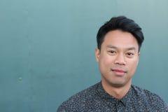 Πορτρέτο ενός όμορφου νέου ασιατικού ατόμου Στοκ φωτογραφία με δικαίωμα ελεύθερης χρήσης