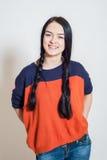 Πορτρέτο ενός όμορφου νέου κοριτσιού στοκ φωτογραφία
