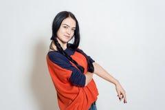 Πορτρέτο ενός όμορφου νέου κοριτσιού Στοκ Εικόνα