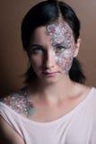 Πορτρέτο ενός όμορφου νέου κοριτσιού Στοκ Φωτογραφίες
