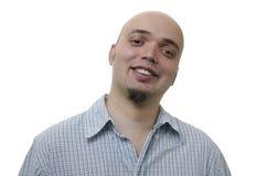Πορτρέτο ενός όμορφου νεαρού άνδρα στο άσπρο υπόβαθρο στοκ εικόνες