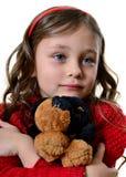 Πορτρέτο ενός όμορφου συμπαθητικού κοριτσιού Στοκ Εικόνα
