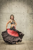Πορτρέτο ενός όμορφου χορευτή κοιλιών στοκ φωτογραφία με δικαίωμα ελεύθερης χρήσης