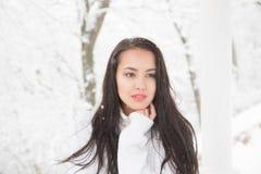 Πορτρέτο ενός όμορφου brunette υπαίθρια Στοκ φωτογραφία με δικαίωμα ελεύθερης χρήσης