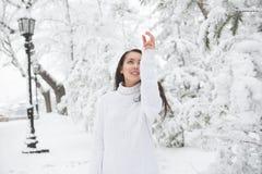 Πορτρέτο ενός όμορφου brunette υπαίθρια Στοκ Φωτογραφία