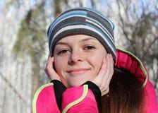 Πορτρέτο ενός όμορφου girll Coseup Στοκ εικόνες με δικαίωμα ελεύθερης χρήσης
