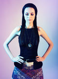 Πορτρέτο ενός brunette με το φωτισμό αντίθεσης Στοκ φωτογραφία με δικαίωμα ελεύθερης χρήσης