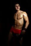 Πορτρέτο ενός muscleman Στοκ εικόνες με δικαίωμα ελεύθερης χρήσης