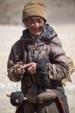 Πορτρέτο ενός Yak ατόμου που εργάζεται στο Θιβέτ Στοκ φωτογραφία με δικαίωμα ελεύθερης χρήσης
