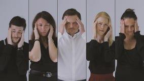 Πορτρέτο επιχειρησιακών ομάδων απόθεμα βίντεο