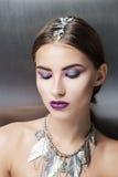 πορτρέτο διακοπών κοριτσιών μόδας ομορφιάς makeup προκλητικό κορίτσι προκλητικό Στοκ Φωτογραφίες