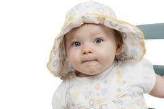 πορτρέτο καπέλων κοριτσακιών Στοκ εικόνες με δικαίωμα ελεύθερης χρήσης
