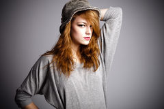 πορτρέτο καπέλων στοκ φωτογραφίες