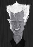 Πορτρέτο καρικατουρών ειδώλων του Μπίλι Στοκ φωτογραφίες με δικαίωμα ελεύθερης χρήσης