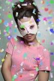 Πορτρέτο καρναβαλιού του όμορφου κοριτσιού Στοκ εικόνα με δικαίωμα ελεύθερης χρήσης
