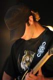 πορτρέτο κιθαριστών Στοκ φωτογραφία με δικαίωμα ελεύθερης χρήσης