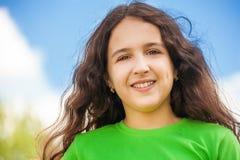 Πορτρέτο κινηματογραφήσεων σε πρώτο πλάνο ενός κοριτσιού Στοκ εικόνες με δικαίωμα ελεύθερης χρήσης