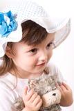 Πορτρέτο κινηματογραφήσεων σε πρώτο πλάνο μικρών κοριτσιών χαμόγελου στοκ εικόνα