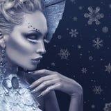 Πορτρέτο κινηματογραφήσεων σε πρώτο πλάνο της χειμερινής βασίλισσας στοκ φωτογραφία με δικαίωμα ελεύθερης χρήσης