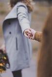Πορτρέτο κινηματογραφήσεων σε πρώτο πλάνο hands' της όμορφης νέας αγάπης ζευγών κάθε ot στοκ εικόνες με δικαίωμα ελεύθερης χρήσης