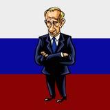 Πορτρέτο κινούμενων σχεδίων του Vladimir Putin του Προέδρου της Ρωσικής Ομοσπονδίας Στοκ εικόνες με δικαίωμα ελεύθερης χρήσης