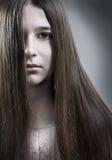 πορτρέτο κοριτσιών εφηβικό στοκ φωτογραφία