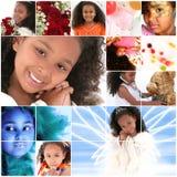 πορτρέτο κοριτσιών κολάζ στοκ φωτογραφίες
