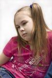 πορτρέτο κοριτσιών λυπημέ&nu Στοκ Φωτογραφίες