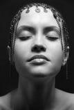 πορτρέτο κοριτσιών μόδας ομορφιάς προκλητικό Στοκ Εικόνα