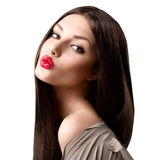 Πορτρέτο κοριτσιών μόδας ομορφιάς στοκ φωτογραφία με δικαίωμα ελεύθερης χρήσης