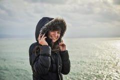 Πορτρέτο κοριτσιών το χειμώνα Στοκ φωτογραφίες με δικαίωμα ελεύθερης χρήσης