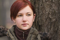 πορτρέτο κοριτσιών φθινοπώρου Στοκ εικόνα με δικαίωμα ελεύθερης χρήσης